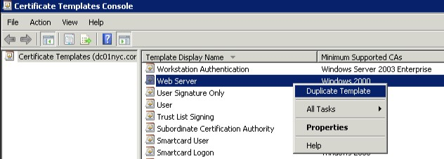 Certificates vmwiki use the windows 2003 option for the version of the template yadclub Choice Image